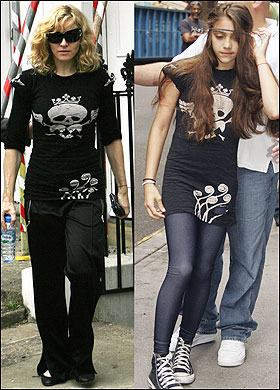 madonna and lourdes wearing skull shirts Trending: Skulls
